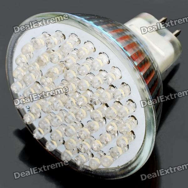 GU5.3 3.6W 3500K 420-Lumen 60-LED Warm White Light Bulb (DC 12V)