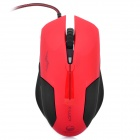 USB Wired Optical Gaming Mouse - Red + Black