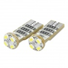 T10 0.25W 6500K 30LM 4-SMD LED White Light Lamps for Car - Pair (12V)