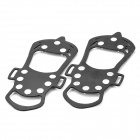 Outdoor Ice Climbing / Mountaineering Shoes Chain Cleat Crampons - Black (Size-L / Pair)