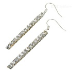 925 Silver Plated Crystal Earrings (Pair)