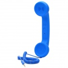 Retro Radiation Protection Handset w/ Volume Control for Cell Phone - Blue (3.5mm-Plug)