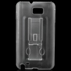 Protective PC Back Case with Holder for Samsung i9220 - Translucent White