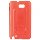 Protective PC Back Case with Holder for Samsung i9220 - Red