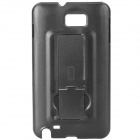 Protective PC Back Case with Holder for Samsung i9220 - Black