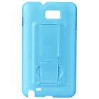 Protective PC Back Case with Holder for Samsung i9220 - Blue
