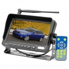 "7"" LCD Car Wireless Rearview Camera Monitor w/ Dual IR Night Vision Waterproof CCD Cameras - Black"