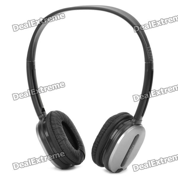 Rapoo 2.4GHz Wireless Headset Headphone with Microphone - Silver + Black rapoo h3070 2 4ghz wireless stereo headset headphone with microphone