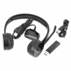 Rapoo 2.4GHz Wireless Headset Headphone with Microphone - Black
