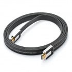 AIBORG G2800 Gold-plated HDMI V1.4 HD 3D Male to Male Flat Connection Cable - Black (200cm)