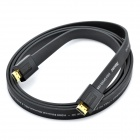 AIBORG G3000 Gold-plated HDMI V1.4 HD 3D Male to Male Flat Connection Cable - Black (200cm)
