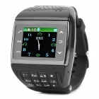 "ET-1 GSM Wrist Watch Phone w/1.5"" Resistive Screen, Quad-band, Bluetooth V2.0 and FM - Black"