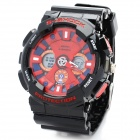 Sports Diving Wrist Watch w / Week / Stopwatch / Alarm Clock - Black + Red (1 x CR2032)