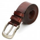 Stylish Leather Men's Belt with Zinc Alloy Buckle - Deep Coffee (3.8cm Width)