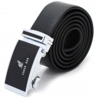 Automatic Buckle Cowhide Leather Belt for Man - Black (118-120cm/3.5cm)