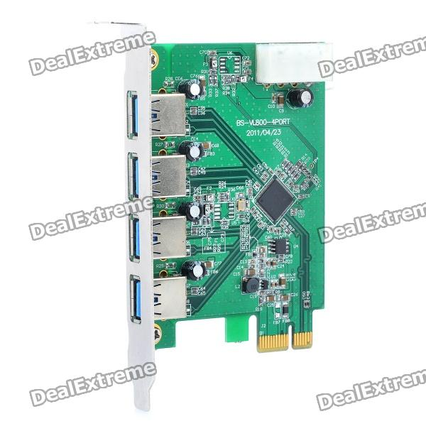 Super Speed 4-Port USB 3.0 PCI-Express Expansion Card new 4 1 port high speed pci to usb 2 0 expansion hub card controller adaptor module high speed extender card for windows