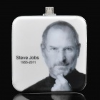 Steve Jobs Pattern Portable 2200mAh Emergency Battery Pack w/ Micro Male Connector
