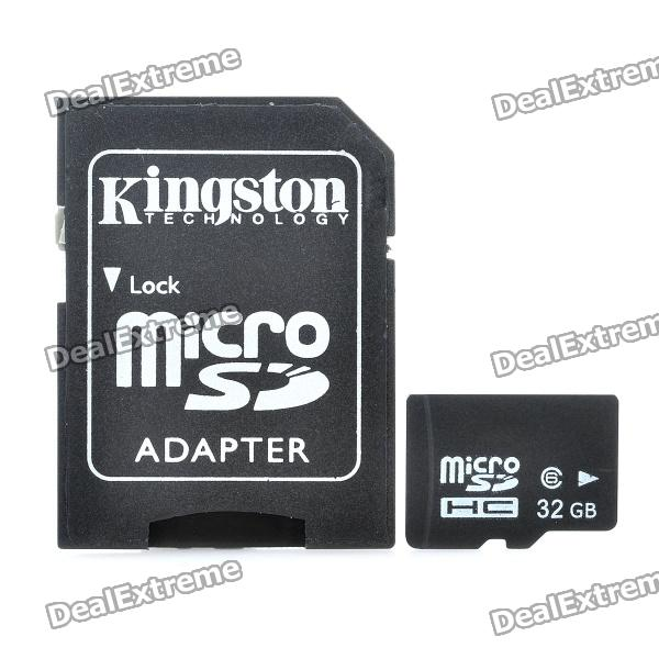 Micro SD/TF Card with SD Card Adapter (32GB/Class 6) ssk scrm 060 multi in one usb 2 0 card reader for sd ms micro sd tf white