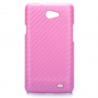 Protective PC + Carbon Fiber Back Case for Samsung Samsung I9103 Galaxy R - Pink