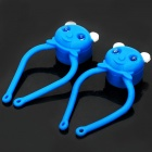 Panda Style 3-Mode White Light Bike Safety Light - Blue (2 x CR2032/Pair)