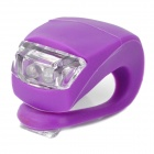 3-Mode 2-LED Red Light Bike Safety Frog Lamp - Purple (2 x CR2032)