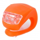 3-Mode 2-LED Red Light Bike Safety Frog Lamp - Orange (2 x CR2032)
