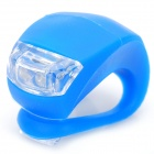 3-Mode 2-LED Blue Light Bike Safety Frog Lamp - Blue (2 x CR2032)