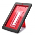 Protective Plastic + Silicone Case with Stand Holder for iPad 2 - Red + Black