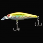 Lifelike Fish Style Fishing Bait with Hooks - Golden