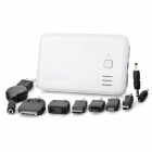 X-M5800 5800mA External Mobile Battery Power Charger w/ Adapters - White (DC 5V)