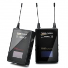 "1.0"" LCD 2.4GHz 50mW Stereo Wireless Microphone System Transmitter + Receiver Set for Camera"