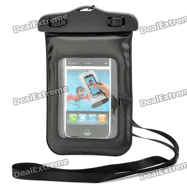 Waterproof Bag Case with Strap for Iphone 4 / 4S - Black usams fluorescent ipx8 waterproof bag case for iphone 6s 6 4 7 with strap black