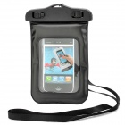 Waterproof Bag Case with Strap for iPhone 4 / 4S - Black