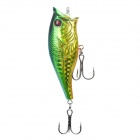 Lifelike Fish Style Fishing Bait with Treble Hooks - Golden Green