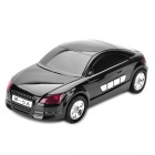 "1.3"" LED Car Style USB Rechargeable MP3 Player Speakers w/ FM / TF Slot - Black"
