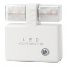Energy-Saving 4-LED Light Control Night Lamp - White (220V/2-flat-pin Plug)