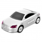"1.3"" LED Car Style USB Rechargeable MP3 Player Speakers w/ FM / TF Slot - Silver"
