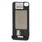 Dual SIM Dual Standby Battery Protective Back Case for iPhone 4 / 4S - White