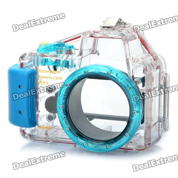 Meike Waterproof Diving Mini Digital Camera Case for Sony NEX3 - Blue (40m Underwater) 404pcs rubber o ring assortment seal plumbing garage kit with case o ring washer seals black