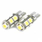 T10 1.8W 6500K 150-Lumen 9-5050 SMD LED White Light Lamps (DC 12~17V)