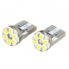 T10 0.36W 6500K 42-Lumen 6-3020 SMD LED White Light Lamps (DC 12~17V / Pair)