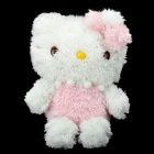 Cute Protective Plush Doll Case for iPhone 4 / 4S - Pink + White