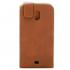 Protective Leather Cover Plastic Case for Samsung Prime Nexus/Galaxy Nexus/i9250- Brown
