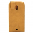 Protective Leather Cover Plastic Case for Samsung Prime Nexus/Galaxy Nexus/i9250 - Khaki