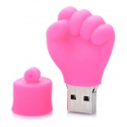 Mini Fist Style USB Flash Disk - Deep Pink (4GB)