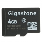 Genuine Gigastone Micro SDHC Card with SD Card Adapter (4GB/Class 4) - Black