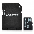 Gigastone TF / MicroSDHC Card with SD Adapter (8GB / Class 4)