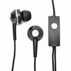 PAG 3.5mm Stylish In-Ear Earphone w/ Microphone - Black (110cm)