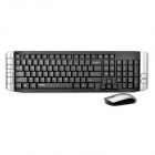Rapoo 8130+ 2.4GHz Wireless 109-Key Keyboard 1000DPI Mouse Set w/ USB Receiver - Black + Grey (AA)