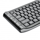 Rapoo 8130 + 2.4GHz Wireless Keyboard 109-Key 1000dpi souris Set w / récepteur USB - Noir + Gris (AA)